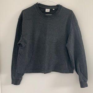 Kotn charcoal grey crew sweater